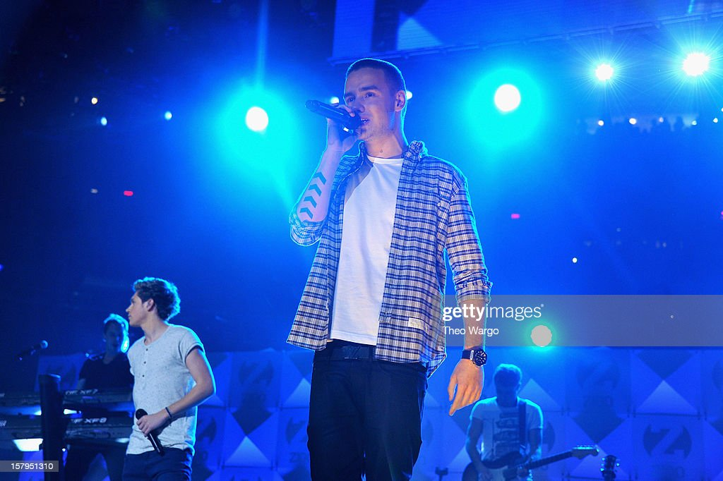 Liam Payne of One Direction performs onstage during Z100's Jingle Ball 2012, presented by Aeropostale, at Madison Square Garden on December 7, 2012 in New York City.