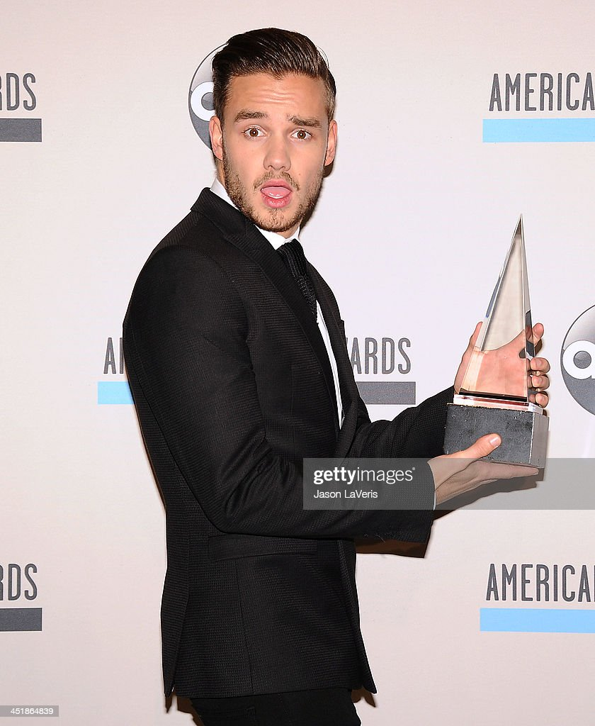 <a gi-track='captionPersonalityLinkClicked' href=/galleries/search?phrase=Liam+Payne&family=editorial&specificpeople=7235152 ng-click='$event.stopPropagation()'>Liam Payne</a> of One Direction poses in the press room at the 2013 American Music Awards at Nokia Theatre L.A. Live on November 24, 2013 in Los Angeles, California.