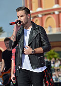 Liam Payne of the band One Direction appear on NBC's Today Show to release their new album 'Four' at Universal City Walk At Universal Orlando on...
