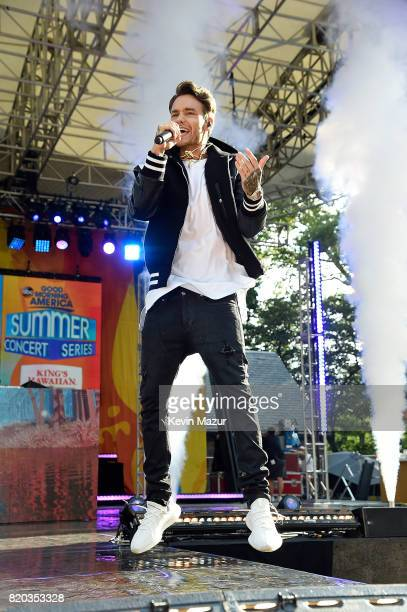 Liam Payne performs on ABC's 'Good Morning America' at Rumsey Playfield on July 21 2017 in New York City