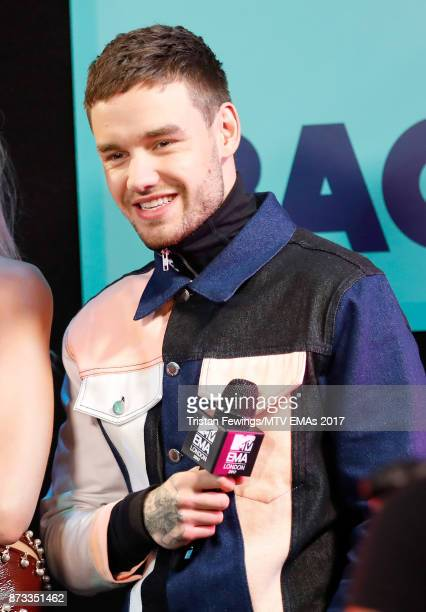 Liam Payne poses in the winner's room during the MTV EMAs 2017 held at The SSE Arena Wembley on November 12 2017 in London England