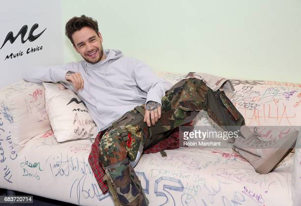 Liam Payne visits Music Choice on May 16 2017 in New York City