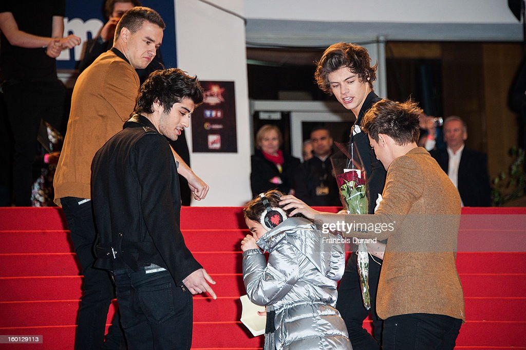 Liam Payne, Zayn Malik, Louis Tomlinson and Harry Styles of One Direction attend the NRJ Music Awards 2013 at Palais des Festivals on January 26, 2013 in Cannes, France.