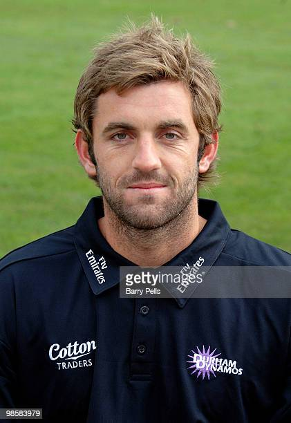 Liam Plunkett of Durham poses for a portrait during the Durham CCC photocall at the Riverside on April 6 2010 in ChesterLeStreet England
