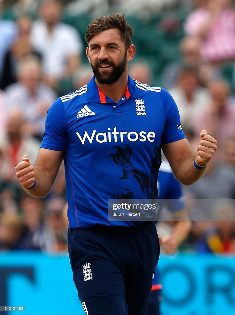 Liam Plunkett of England celebrates the wicket of Kusal Perera of Sri Lanka during The 3rd ODI Royal London One-Day match between England and Sri Lanka at The County Ground on June 26, 2016 in Bristol, England.