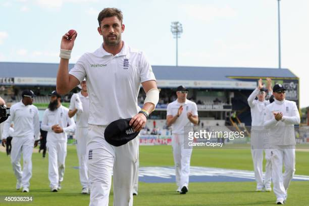 Liam Plunkett of England leaves the field after picking up a five wicket haul during day one of 2nd Investec Test match between England and Sri Lanka...