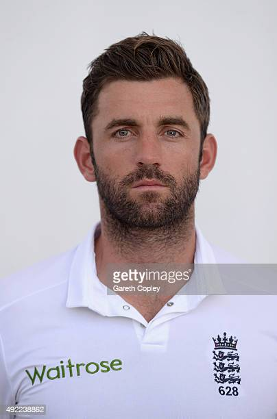 Liam Plunkett of England poses for a portrait at Zayed Cricket Stadium on October 11 2015 in Abu Dhabi United Arab Emirates