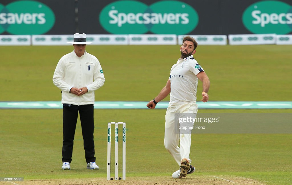 <a gi-track='captionPersonalityLinkClicked' href=/galleries/search?phrase=Liam+Plunkett&family=editorial&specificpeople=535638 ng-click='$event.stopPropagation()'>Liam Plunkett</a> of Yorkshire in action bowling during day one of the Specsavers County Championship Division One match between Nottinghamshire and Yorkshire at Trent Bridge on May 1, 2016 in Nottingham, England.