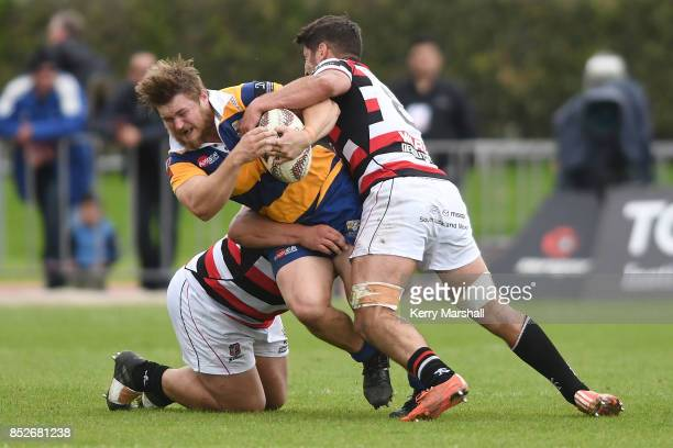 Liam Polwart of Bay of Plenty in action during the round six Mitre 10 Cup match between Bay of Plenty and Counties Manukau Tauranga Domain on...