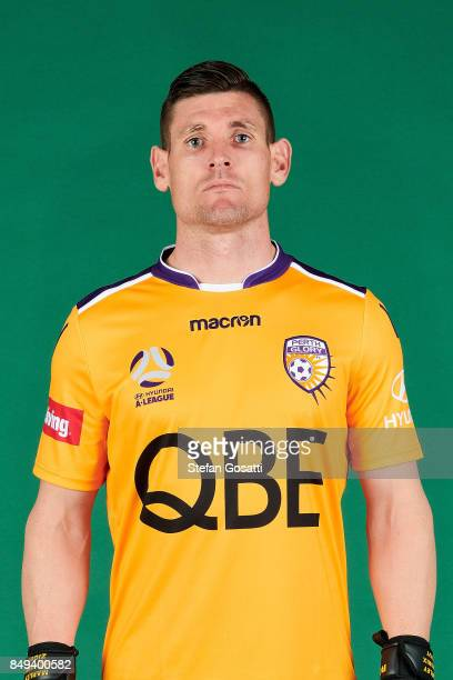 Liam Reddy poses during the Perth Glory 2017/18 ALeague season headshots session on September 15 2017 in Perth Australia