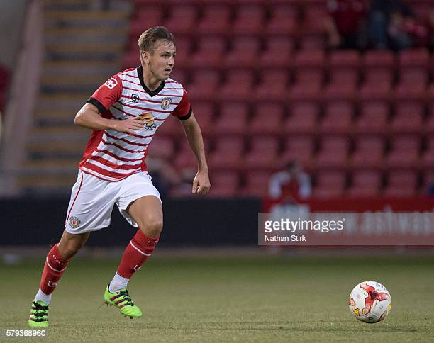 Liam Smith of Crewe Alexandra in action during to the PreSeason Friendly between Crewe Alexandra and Bolton Wanderers at The Alexandra Stadium on...