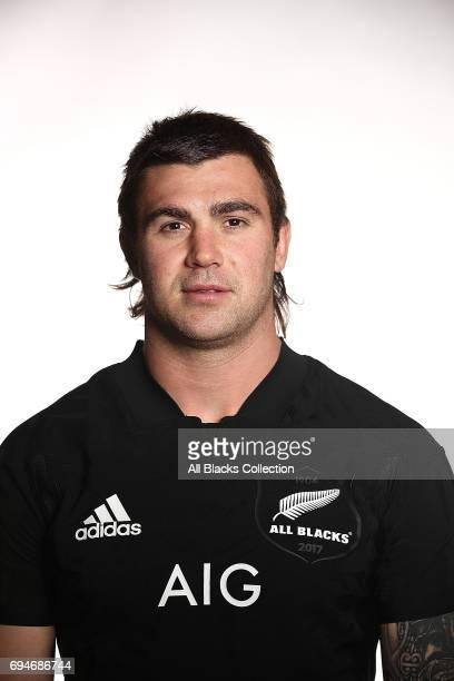 Liam Squire during the New Zealand All Blacks Headshots Session on June 11 2017 in Auckland New Zealand