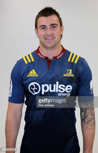 Liam Squire poses during the Highlanders headshots session on February 1 2017 in Dunedin New Zealand