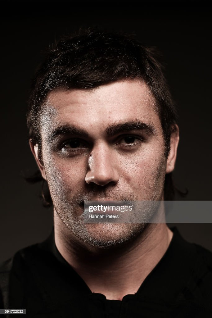 Liam Squire poses for a portrait during the New Zealand All Blacks Headshots Session on June 11, 2017 in Auckland, New Zealand.