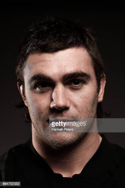 Liam Squire poses for a portrait during the New Zealand All Blacks Headshots Session on June 11 2017 in Auckland New Zealand