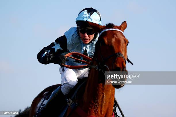 Liam Treadwell rides Tenor Nivernais to win The Keltbray Swinley Chase at Ascot Racecourse on February 18 2017 in Ascot England