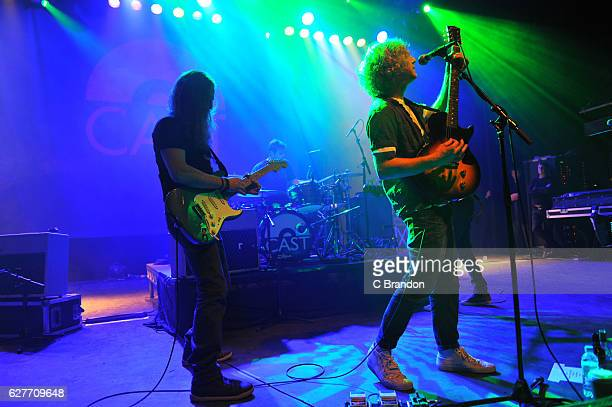 Liam Tyson Keith O'Neill John Power and Jay Lewis of Cast perform on stage at the O2 Shepherds Bush Empire on December 4 2016 in London United Kingdom