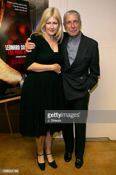 Lian Lunson director and Leonard Cohen during 2006 Los Angeles Film Festival 'Leonard Cohen I'm Your Man' Screening in Westwood California United...