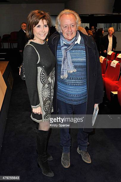 Liane Foly and Didier Barbelivien attend the Grands Prix De L'UNAC 2014 Award Ceremony at Sacem on March 17 2014 in NeuillysurSeine France