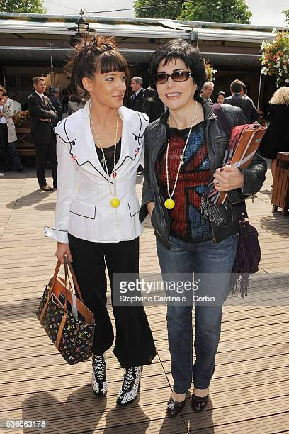 Liane Foly and Erika Moulet at Roland Garros Village