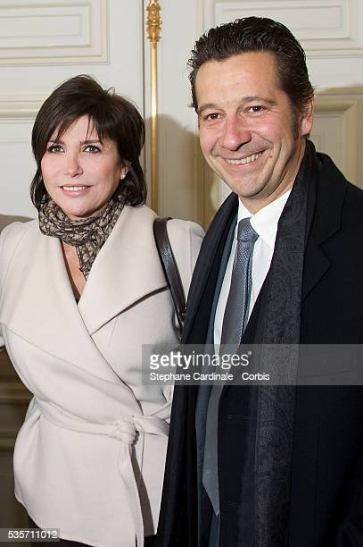 Liane Foly and Laurent Gerra attend the Award Ceremony for the Vermail Medal to Claude Lelouch at Paris City Hall