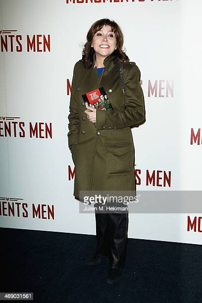 Liane Foly attends 'Monuments Men' Paris premiere at Cinema UGC Normandie on February 12 2014 in Paris France