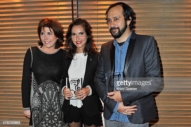 Liane Foly Joyce Jonathan and Fabien Nataf attend the Grands Prix De L'UNAC 2014 Award Ceremony at Sacem on March 17 2014 in NeuillysurSeine France