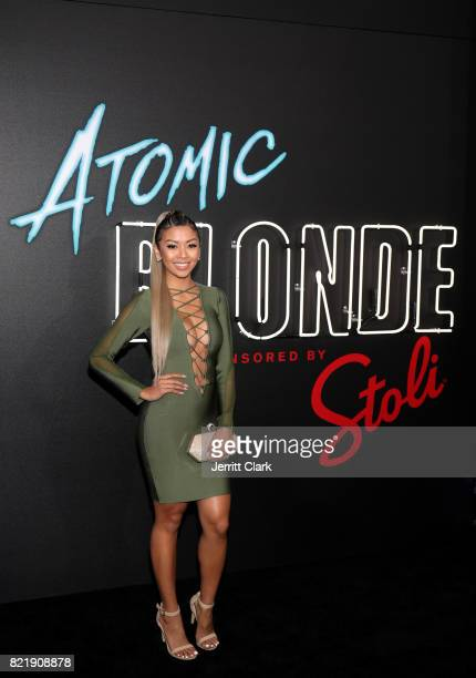 Liane Valenzuela attends the American premiere of Atomic Blonde starring Oscar awardwinning actress Charlize Theron at The Theatre At The Ace Hotel...