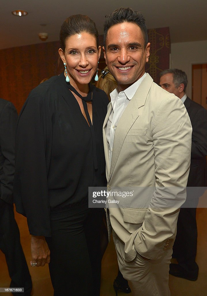 Liane Weintraub (L) and Isaac Joseph attend the David Webb Dinner in honor of LAXART at Sunset Tower on May 1, 2013 in West Hollywood, California.