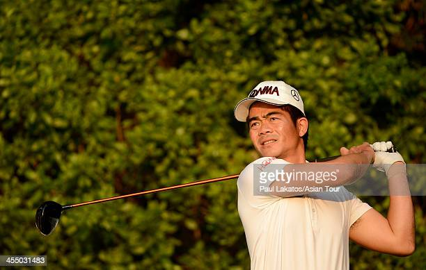 Liang Wen Chong of China pictured ahead of the Thailand Golf Championship at Amata Springs Country Club on December 11 2013 in Bangkok Thailand