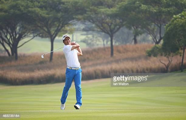 Liang WenChong of China during the first round of the 2015 True Thailand Classic at Black Mountain Golf Club on February 12 2015 in Hua Hin Thailand
