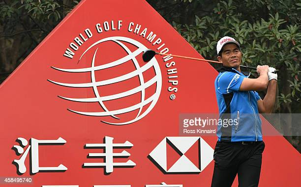 Liang Wenchong of China in action during the first round of the WGC HSBC Champions at the Sheshan International Golf Club on November 6 2014 in...