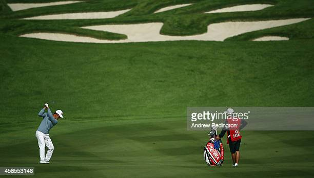 Liang Wenchong of China in action during the second round of the WGC HSBC Champions at the Sheshan International Golf Club on November 7 2014 in...