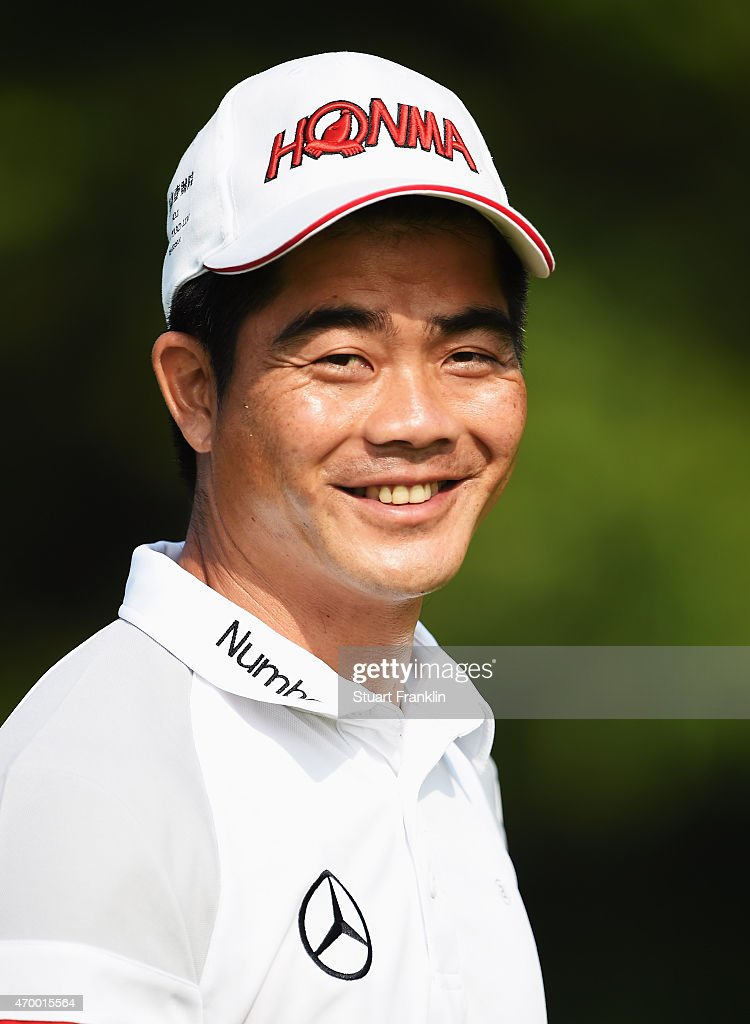 Liang Wen-Chong of China looks on during the second round of the Shenzhen International at Genzon Golf Club on April 17, 2015 in Shenzhen, China.