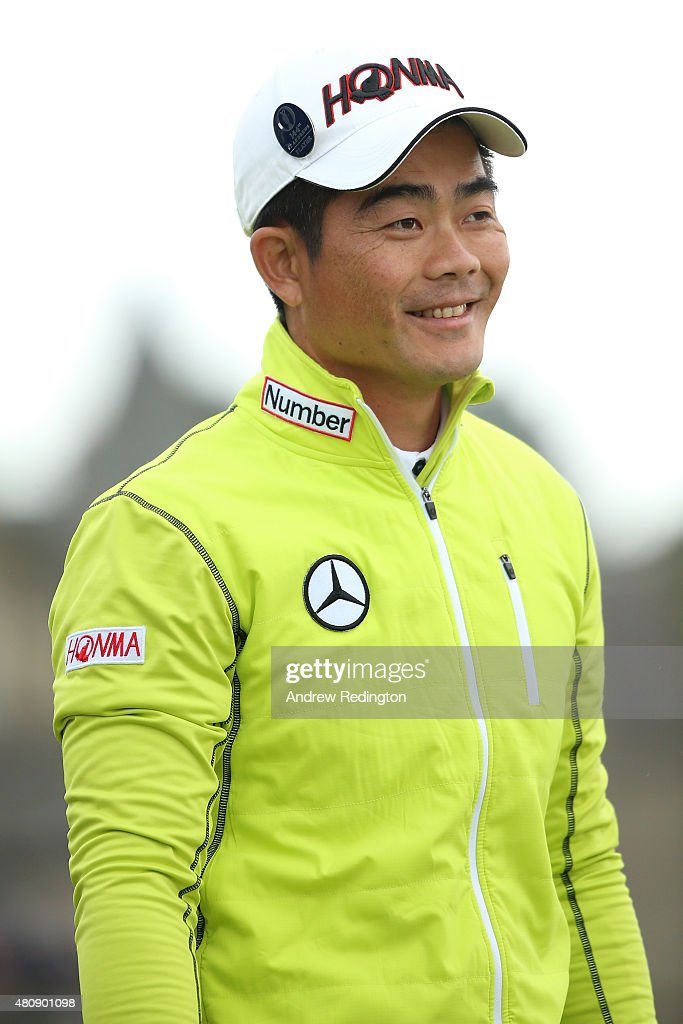 Liang Wen-Chong of China looks on from the 2nd tee during the first round of the 144th Open Championship at The Old Course on July 16, 2015 in St Andrews, Scotland.