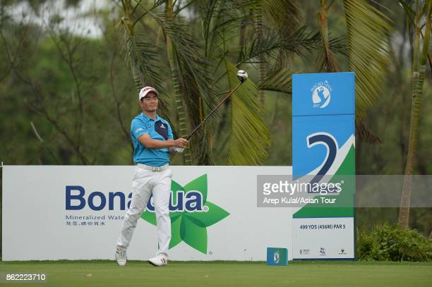 Liang Wenchong of China pictured during practice ahead of the Macao Open at Macau Golf and Country Club on October 17 2017 in Macau Macau