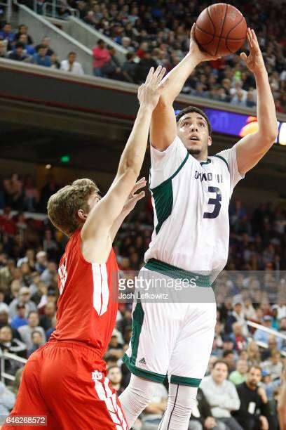LiAngelo Ball of Chino Hills High School shoots the ball during the game against Mater Dei High School at the Galen Center on February 24 2017 in Los...