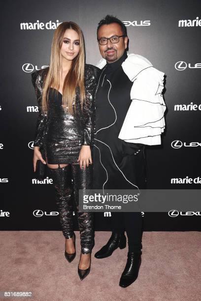 Lianna Perdis and Napoleon Perdis arrive ahead of the 2017 Prix de Marie Claire Awards on August 15 2017 in Sydney Australia