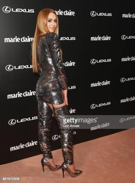 Lianna Perdis arrives ahead of the 2017 Prix de Marie Claire Awards on August 15 2017 in Sydney Australia