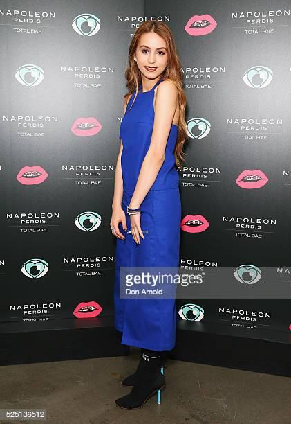 Lianna Perdis attends the launch of 'Total Bae' for Napoleon Perdis on April 28 2016 in Sydney Australia
