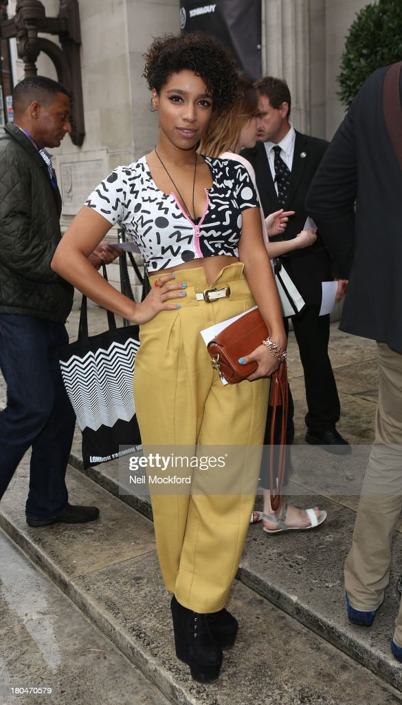 <a gi-track='captionPersonalityLinkClicked' href=/galleries/search?phrase=Lianne+La+Havas&family=editorial&specificpeople=8664655 ng-click='$event.stopPropagation()'>Lianne La Havas</a> is sighted at the Freemason's Hall on September 13, 2013 in London, England.