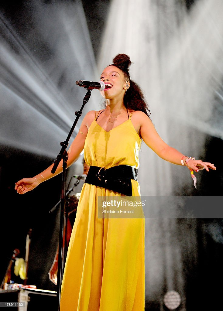 Lianne La Havas performs at the Glastonbury Festival at Worthy Farm, Pilton on June 28, 2015 in Glastonbury, England.