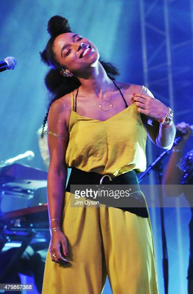 Lianne La Havas performs live on the John Peel stage during the third day of Glastonbury Festival at Worthy Farm Pilton on June 28 2015 in...
