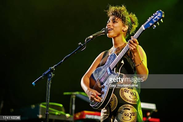 Lianne La Havas performs on stage at Devonshire Green on Day 2 of Tramlines Festival on July 20 2013 in Sheffield England