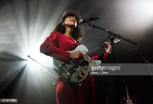 Lianne La Havas performs on stage at Wilton's Music Hall on May 19 2015 in London England