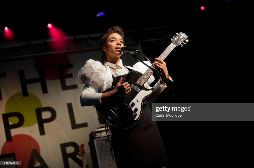 Lianne La Havas performs on stage during Apple Cart Festival at Victoria Park on June 3, 2012 in London, United Kingdom.