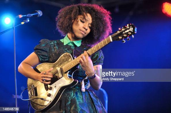 Lianne La Havas performs on stage during Latitude Festival 2012 at Henham Park Estate on July 14 2012 in Southwold United Kingdom
