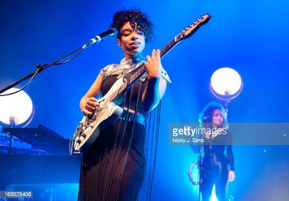 Lianne La Havas performs on stage in concert at O2 Shepherd's Bush Empire on March 11 2013 in London England