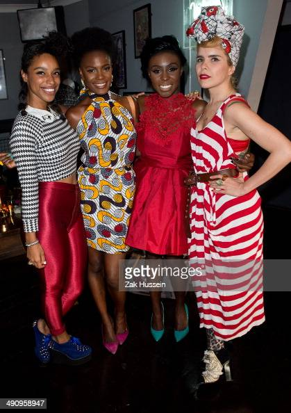Lianne La Havas Shingai Shoniwa Laura Mvula and Paloma Faith attend as Laura Mvula performs in aid of Shelter at The Record Club on May 15 2014 in...