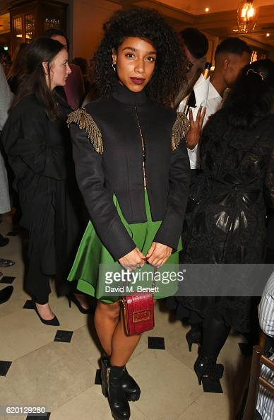 Lianne La Havas wearing Burberry attends an event to celebrate 'The Tale of Thomas Burberry' at Burberry's all day cafe Thomas's on November 1 2016...